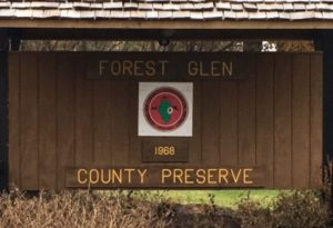 Forest Glen Preserve sign