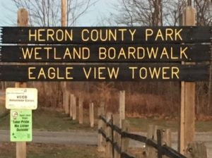 Heron County Park Sign