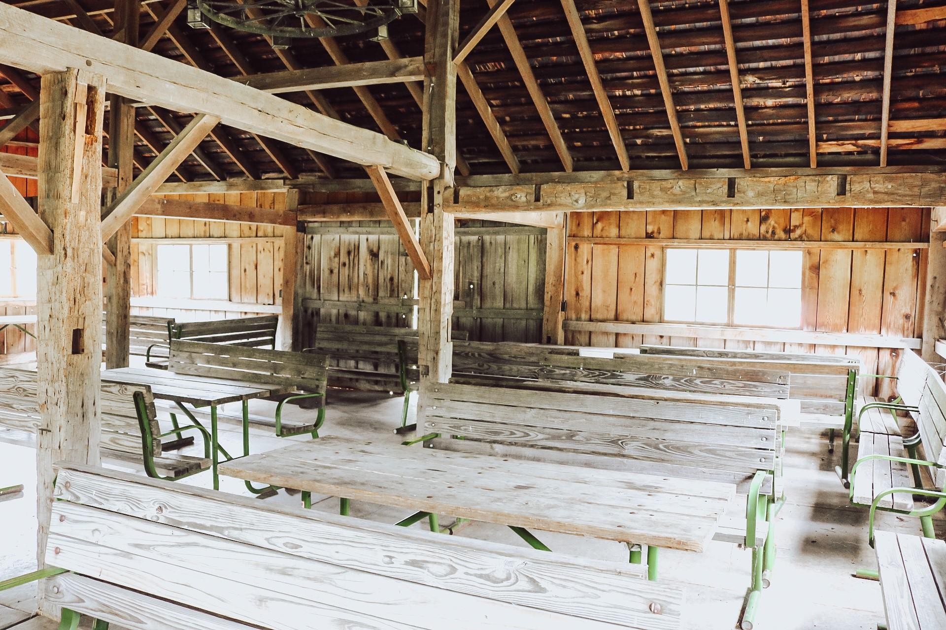 Audubon Barn inside
