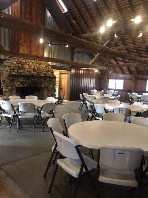 White oak barn inside 1
