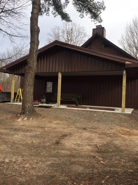 white oak barn patio